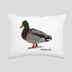 Mallard Duck Rectangular Canvas Pillow